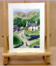 A Cumbrian Farm Scene_ water colour of farm later learned to be once owned by Beatrice Potter_Image = 155 x 230 mm (6.1 x 9.1 inches) approx.