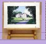 A Lancashire Country House_water colour. It seems so peaceful, that even deer don't startle_Image = 209 x 140 mm (8.2 x 5.5 inches) approx.