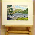 Ullswater near Aira Force_ water colour after visiting the the Aira Force falls_Image = 285 x 195 mm (11.2x 7.7 inches) approx.