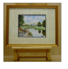 The water colour shows the Cathedral in the distance looking north  from Brace Bridge on the   Fosse Way now known as the A46.  Image = 230 x 170 mm (9 x 6.7 inches) approx.