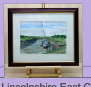 The first of a series of water colour paintings the artist has done of Lincolnshire's popular nature reserve, near Skegness.  Image = 335 x 235 mm (13.19 x 9.25 inches) approx.
