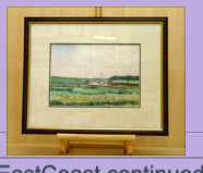 Water colour of scene close to Gibraltar Point Nature Reserve. Image = 330 x 233 mm (12.99 x 19.17 inches) app