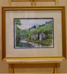 Water colour scene that caught the artist's eye whilst driving over to Galashiels from Penrith. Image = 242 x 150 mm (9.7 x 6 inches) approx.