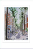 Water colour sketch of cale leading to the seafront. Image = 160X200mm (6.4 X 8 inches) approx.