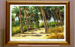 The second painting of the Al Hassa Oasis but in acrylics. Image = 330 x 215 mm (13.2 x 8.6 inches) approx..